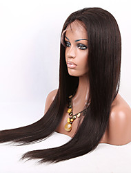 Promotion!!2016 New Brazilian Lace Front Human Hair Wigs Natural Straight Wigs for Black Women With Baby Hair