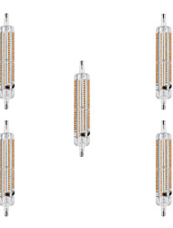 10W R7S LED Mais-Birnen T 228 SMD 3014 800 lm Warmes Weiß / Kühles Weiß Wasserdicht / Dekorativ AC 220-240 V 5 Stück