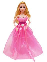 Vêtements de Poupées Loisirs Robe de mariée Robe de soirée Princesse Jupe Plastique Rose Pour Filles 5 à 7 ans