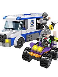 'cogo policiais construção série blocos de Lego-prisioneiros van-261 pcs