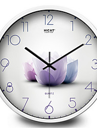 Garden Elegant Lotus Living Room Wall Clock