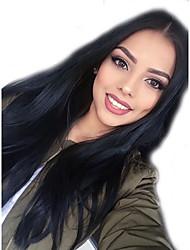 дешевые длинные шелковые прямо бразильский девственные волосы фронта шнурка человеческих волос парики