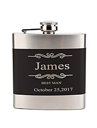 Personalized Wedding Party Gifts, Stainless Steel Engraved Wedding Flasks,Groomsmen Gifts, Bridesmaid Gifts