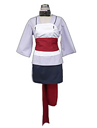 Inspired by Naruto Temari Anime Cosplay Costumes Cosplay Suits Patchwork White Vest / Top / Skirt / Tie / Belt / Leg Warmers