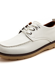Черный / Синий / Желтый / Белый Мужская обувь Для прогулок / На каждый день Полиуретан Туфли на шнуровке