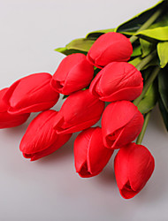 10pc lot Tulip Artificial flower Tulip real touch for wedding bouquet home decor Artificial Flowers