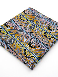 Men Paisley Multicolor 100% Silk  Pocket Square Business Dress