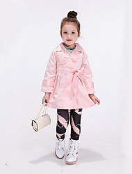Girl's Casual/Daily Solid Jacket & Coat / Trench Coat,Polyester Spring / Fall Pink