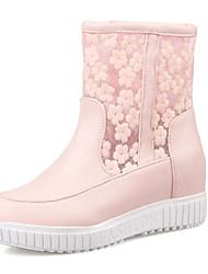 Feminino-BotasRasteiro-Rosa Branco-Materiais Customizados-Casamento Casual Festas & Noite