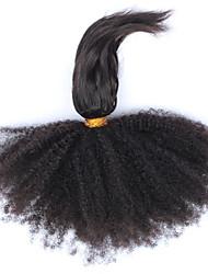 Человека ткет Волосы Бразильские волосы Kinky Curly 12 месяцев 3 предмета волосы ткет
