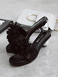 Women's Shoes PU Summer Wedges / Gladiator / Open Toe Slippers & Flip-Flops  Dress Flat Heel Others