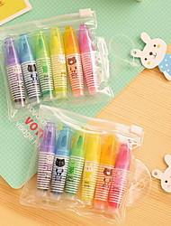 bom marcador de cor marcador e marcador fluorescente 6142 6 canetas