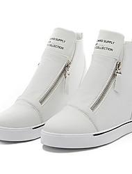 Черный / Белый - Женская обувь - Для прогулок / Для занятий спортом - Дерматин - На танкетке - Удобная обувь / С круглым носком -