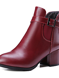Women's Boots Fall / Winter Riding Boots / Fashion Boots / Comfort / Combat Boots / Round ToePatent Leather /