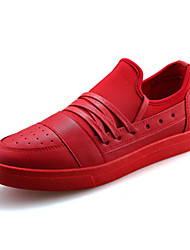Running Shoes Men's Shoes PU Outdoor / Casual Sneakers Outdoor / Casual Walking Flat Heel Others / Lace-up Black / Red / White