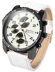 Men's Casual Fashion PU Band Quartz Watch