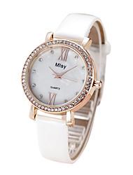 Women's Fashion Casual PU Band Quartz Watch