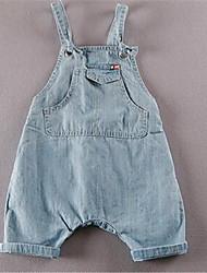 Mädchen T-Shirt / Hose-Lässig/Alltäglich einfarbig Baumwolle Sommer Blau