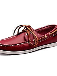 Men's Shoes Amir New Style Office/Casual Lace-up Green/Red/Brown/White/Black Comfort Flat Heel Loafers Boat Shoes