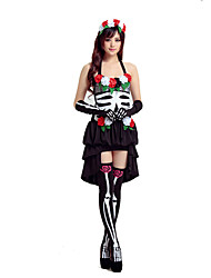 Cosplay Costumes Angel/Devil / Vampire Movie Cosplay Black Patchwork Dress / Headpiece / Gloves / Socks Halloween / Christmas / New Year