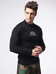 Homens 2mm Roupas de mergulho wetsuit Top Compressão Tactel Fato de Mergulho Roupas de Mergulho Blusas-Mergulho Surfe