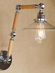e27 section 220v-240v 4w 110v-130v 3 verre transparent simple, réglable en bois mur de LED
