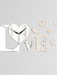 amor espelho relógio personalidade criativa sala de estar