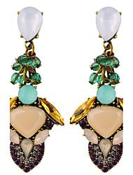 Hot Vintage Fashion Jewelry Ethnic Style Retro Crystal Drop Earrings Bohemian Earrings For Women Indian Chandelier Earrings Accessories