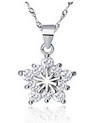 Women's Pendant Necklaces Sterling Silver Alloy Star Fashion Adorable Silver Jewelry Party Daily 1pc