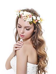 Femme Polyester / Tissu Casque-Mariage / Occasion spéciale / Extérieur Couronnes 1 Pièce Multicolore Fleur 53-56cm