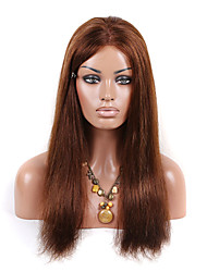 EVAWIGS Fashion Young Girls Lace Wigs Unprocessed Human Hair Full Lace Wig Natural Color Straight Hair Wigs