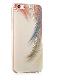 Back Shockproof Feathers TPU Soft Shockproof Case Cover For Apple iPhone 6s Plus/6 Plus / iPhone 6s/6 526508776623