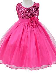 HotPink Flower Girls Dress for Wedding Infant Princess Girl Party Dresses Toddler Costume Newborn Dress for 6M~3Yrs