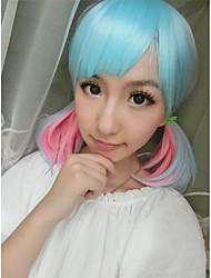 cosplay del anime de la luz peluca azul mezcla de color rosa lindo pelucas hermosas del partido en venta
