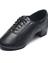 Kids' Dance Shoes Leatherette Leatherette Latin Split Sole / Heels Flat Heel Practice / Indoor Black