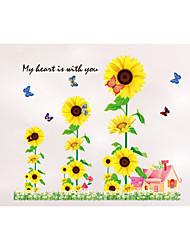 9001Y Sunflower Wall Stickers Plane Wall Stickers Decorative Wall Stickers,PVC Material Removable Wall Decal