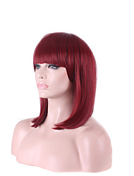 Fashion Popular Wine Red Color BOBO Short Length Hair Wigs