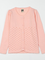 Girl's Casual/Daily Solid Blouse,Cotton Fall Pink / Purple / White