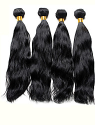 4pcs Brazilian Natural Wave Hair Bundles Weaves Jet Black 100% Unprocessed Brazilian Human Hair Weft
