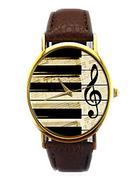 Fashion Unisex Watches Vintage Piano Musical Note Analog Quartz Watch