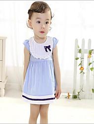 Robe bébé Décontracté / Quotidien Coton Eté Bleu