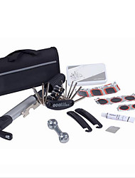 Bicycle Tire Repair Kits 15 in 1 Cycling Bicycle Tools Bike Repair Kit Set with Pouch Pump Black