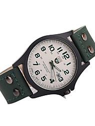 Мужской Нарядные часы Японский кварц Повседневные часы Кожа Группа Черный Белый Коричневый Разноцветный марка