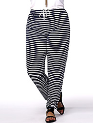 Women's Striped Blue Harem Pants,Plus Size / Casual / Day / Active