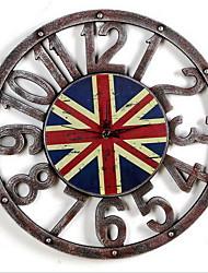 European Antique Wall Clock Gears Clock