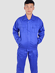 Polyester overalls high-grade blue overalls wear dust-proof suit