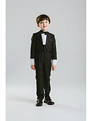 Polyester Ring Bearer Suit - 4 Pieces Includes  Jacket / Pants / Waist cummerbund / Bow Tie