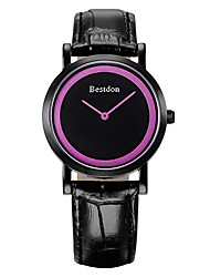 Bestdon® Fashion Vintage Leather Simple Design Water Resistant Japanese Quartz Water Resistant Lady Wristwatch