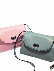 Feminino PVC Casual Bolsa de Ombro Branco / Rosa / Azul / Preto / 8 #