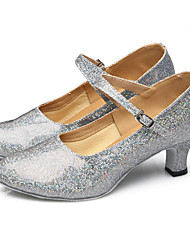 Chaussures de danse(Noir Rouge Argent Or) -Non Personnalisables-Talon Cubain-Paillette Brillante Paillette Synthétique-Latine Baskets de